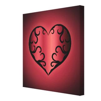 Elegantes gotisches pinkish rötliches Valentinsgru Gespannter Galeriedruck