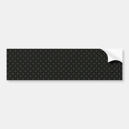 Elegantes graues achteckiges Muster auf rauer schw Autosticker