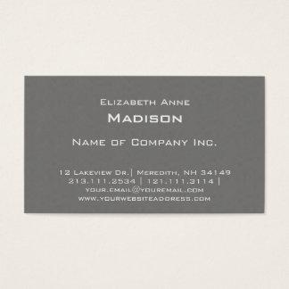Elegantes graues strukturiertes Monogramm Visitenkarte