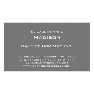 Elegantes graues strukturiertes Monogramm Visitenkarten
