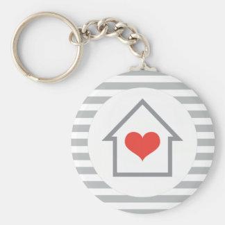 Elegantes Haus mit Herz-Zuhause Schlüsselbänder