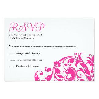 Elegantes heißes Rosa blühen Schläger Mitzvah UAWG 8,9 X 12,7 Cm Einladungskarte