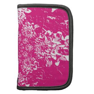 Elegantes heißes Rosa-Blumendahlie-Blumen-Muster Folio Planer