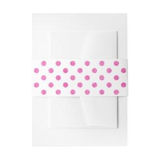 Elegantes heißes Rosa-Glitter-Polka-Punkt-Muster Einladungsbanderole