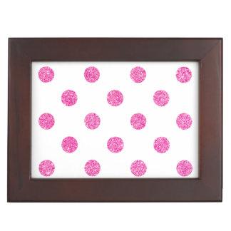 Elegantes heißes Rosa-Glitter-Polka-Punkt-Muster Erinnerungsdose