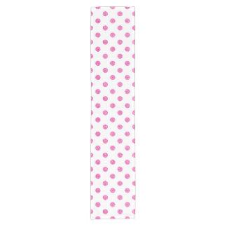 Elegantes heißes Rosa-Glitter-Polka-Punkt-Muster Kurzer Tischläufer