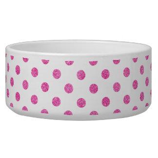 Elegantes heißes Rosa-Glitter-Polka-Punkt-Muster Napf