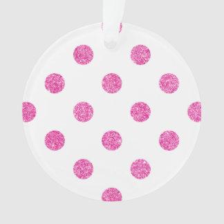 Elegantes heißes Rosa-Glitter-Polka-Punkt-Muster Ornament