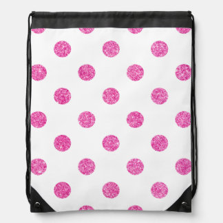 Elegantes heißes Rosa-Glitter-Polka-Punkt-Muster Sportbeutel