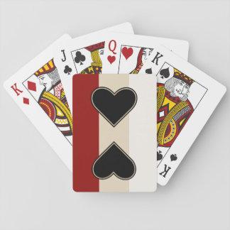 Elegantes Herz zum Herzen Spielkarten