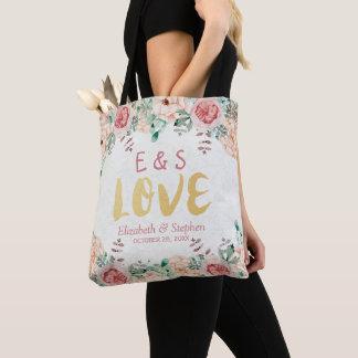 Elegantes Hochzeits-Aquarell-schickes Tasche