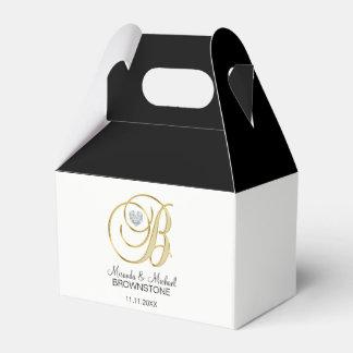 Elegantes Hochzeits-Geschenk des weißes Geschenkkartons