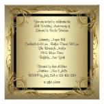 Elegantes Hochzeits-Jahrestags-Party des Gold50. Ankündigungskarten