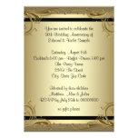 Elegantes Hochzeits-Jahrestags-Party des Gold50. Individuelle Einladungskarte