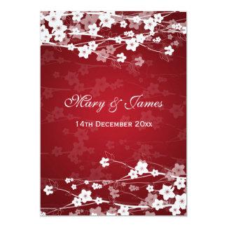 Elegantes Hochzeits-Kirschblüten-Rot