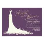 Elegantes Hochzeits-Kleid der Individuelle Ankündigskarten
