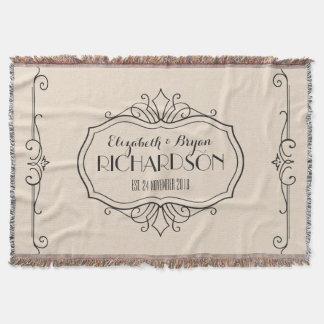 Elegantes Hochzeits-Monogramm wählen Ihre eigene Decke