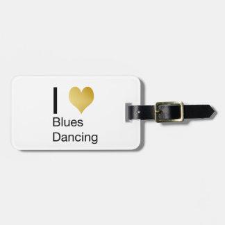 Elegantes i-Herz-Blues-Tanzen Kofferanhänger