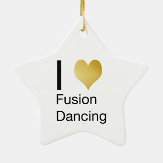 Elegantes i-Herz-Fusions-Tanzen Keramik Ornament