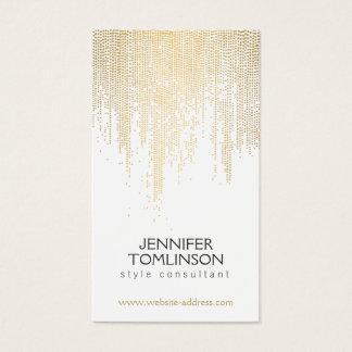 Elegantes Imitat-Goldconfetti-Punkt-Muster Visitenkarte