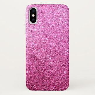 Elegantes Imitat-rosa Glitzer-Luxus iPhone X Hülle