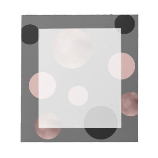 elegantes Imitat-Rosengold erröten rosa schwarze Notizblock