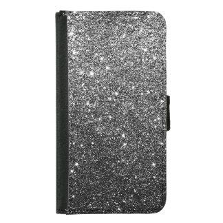 Elegantes Imitat-schwarzer Glitter Geldbeutel Hülle Für Das Samsung Galaxy S5