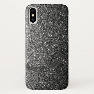 Elegantes Imitat-schwarzer Glitzer-Luxus iPhone X Hülle