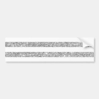 Elegantes Imitat-silbernes Glitter-Streifen-Muster Autoaufkleber