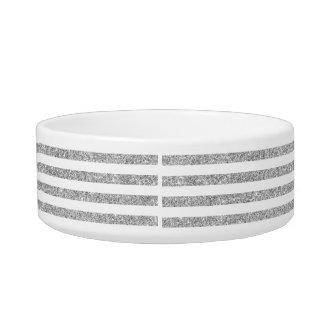 Elegantes Imitat-silbernes Glitter-Streifen-Muster Napf