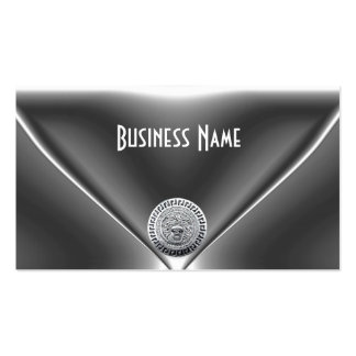Elegantes Juwel-Chrom-Silber Visitenkarten