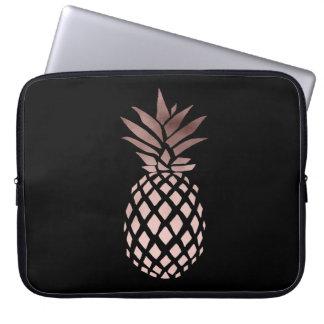 elegantes klares Imitat-Rosen-Goldtropische Ananas Laptop Sleeve