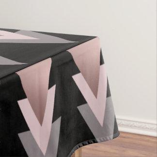 elegantes klares Rosengoldgeometrische Dreiecke Tischdecke