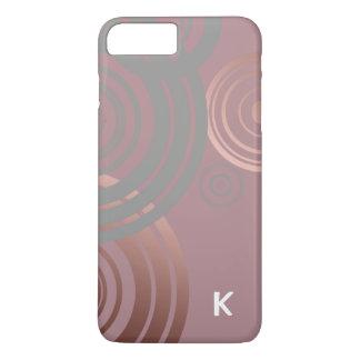 elegantes klares Rosengoldgraue geometrische iPhone 8 Plus/7 Plus Hülle