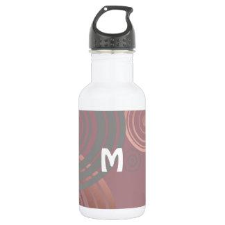 elegantes klares Rosengoldgraue geometrische Trinkflasche