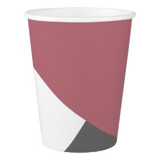 elegantes klares staubiges rosa, schwarzes, graues pappbecher