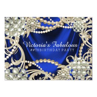 Elegantes königliches 11,4 x 15,9 cm einladungskarte