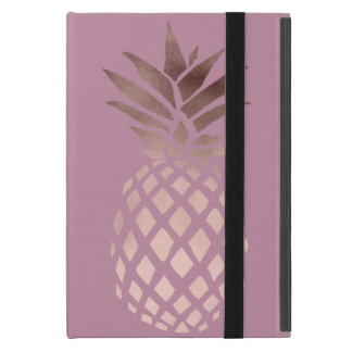 elegantes Kükenraum-Rosen-Goldtropische Ananas Etui Fürs iPad Mini