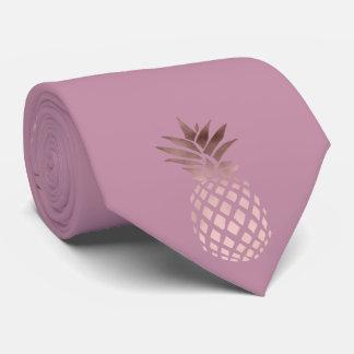 elegantes Kükenraum-Rosen-Goldtropische Ananas Krawatte
