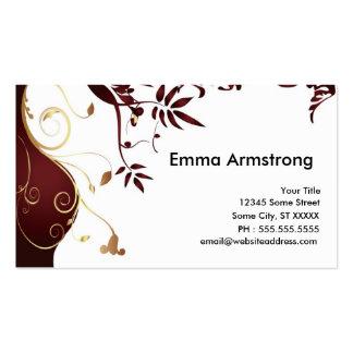 Elegantes kundenspezifisches Businesscard Visitenkarten Vorlage