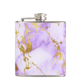 Elegantes Lavendel-GoldImitat-metallisches Flachmann