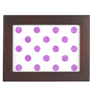 Elegantes lila Glitter-Polka-Punkt-Muster Erinnerungsdose