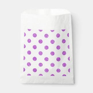 Elegantes lila Glitter-Polka-Punkt-Muster Geschenktütchen