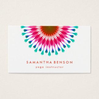 Elegantes Lotos-Blumen-Logo-Yoga Visitenkarte