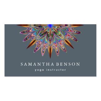 Elegantes Lotos-Blumen-Logo-Yoga Visitenkarten