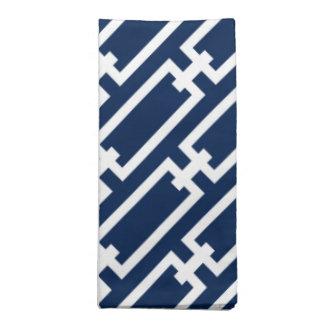 Elegantes Marine-Blau-geometrisches Bedruckte Servietten