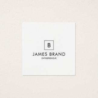 Elegantes minimales Monogramm Quadratische Visitenkarte