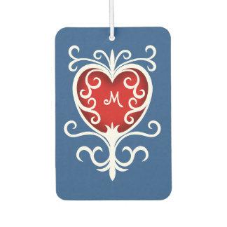 Elegantes mit Monogramm Herz Lufterfrischer