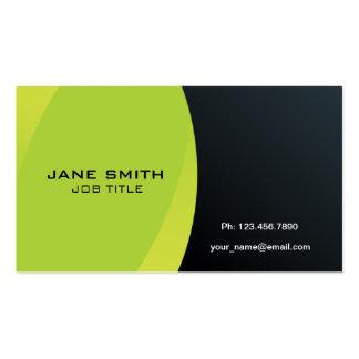Elegantes modernes berufliches Grünes und schwarz Visitenkarten