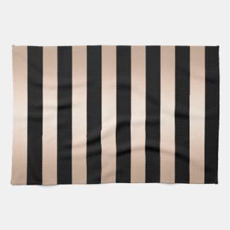 Elegantes modernes Küken-Rosen-Goldschwarzes Handtuch